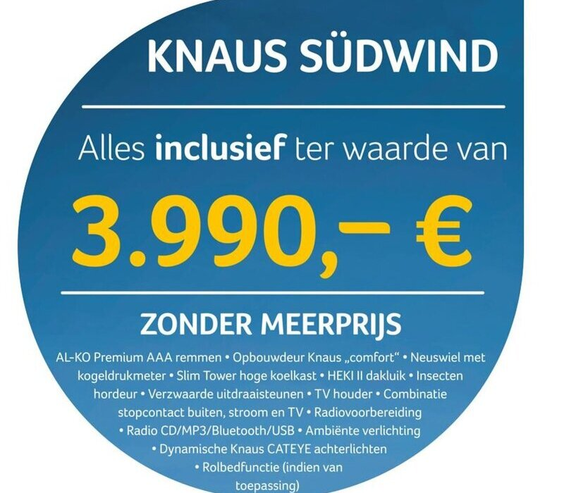 Knaus  Sudwind 500 FU WITOMA EXCLUSIEF PAKKET