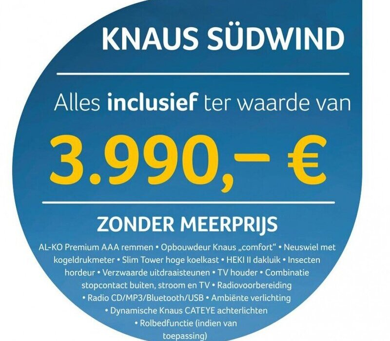 Knaus  Sudwind 460 EU nederland primeur !